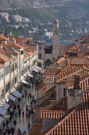 stradun orlando tower and rooftops from