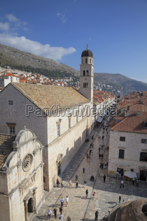 franciscan monastery stradun and rooftops from