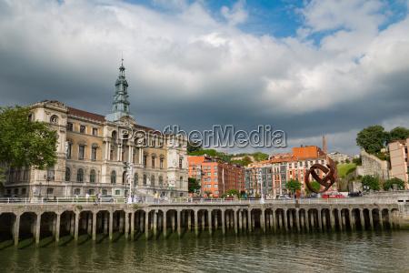 bilbao city hall on the river