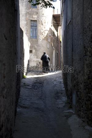 the streets of urzulei sardinia italy