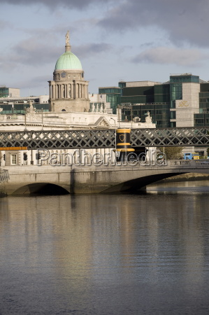 view of the liffey river with