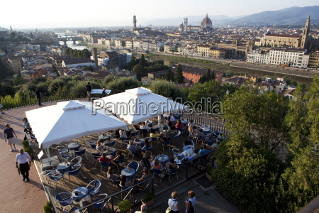 florence from piazza michelangelo florence tuscany