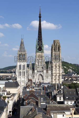 notre dame cathedral rouen normandy france
