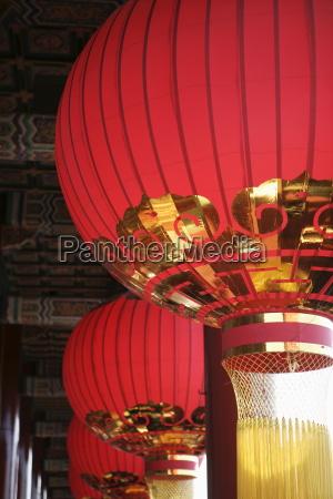 laternen die verbotene stadt beijing peking