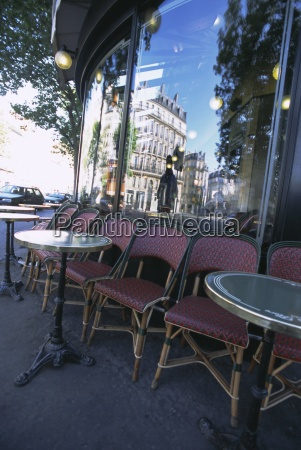 chairs and tables at a cafe
