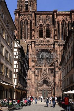 notre dame cathedral strasbourg alsace france