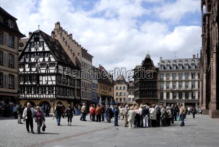 place de la cathedrale strasbourg alsace