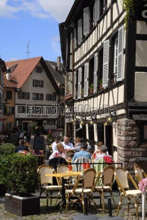 restaurant timbered buildings la petite france