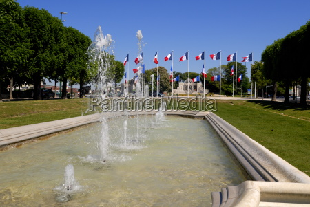 fountains in hautes promenades park looking
