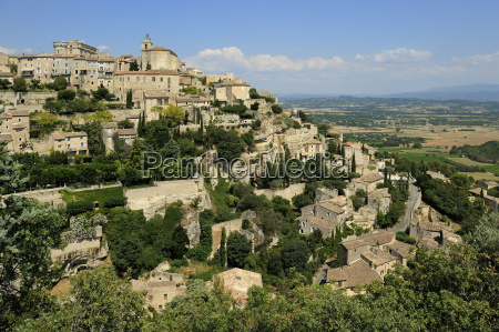 the hilltop village of gordes designated