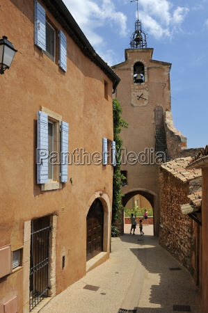 old bell tower in the ochre