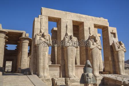 four statues of osiris hypostyle hall