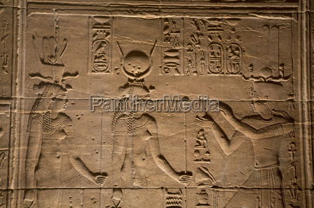 decorative wall reliefs temple of isis