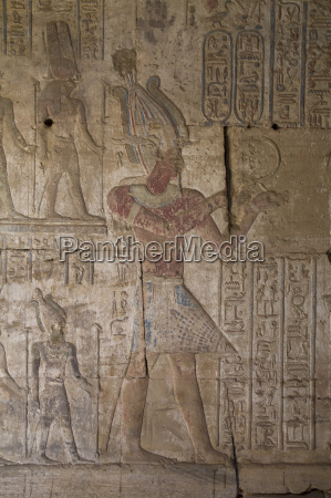bas reliefs inside the temple of