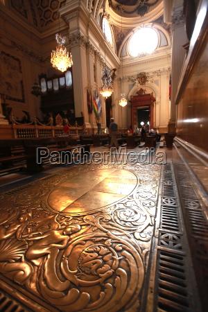interior of the huge basilica de