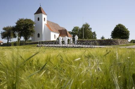 church near ebeltoft ebeltoft denmark scandinavia