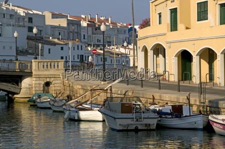 ciutadella port menorca balearic islands spain