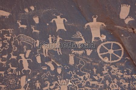 petroglyphs on newspaper rock newspaper rock