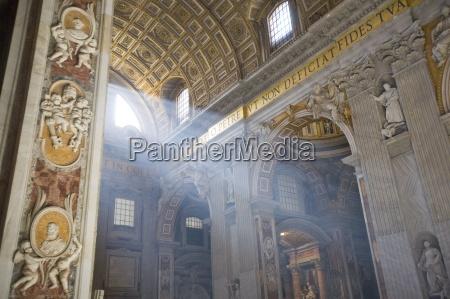 interior st peters basilica vatican rome