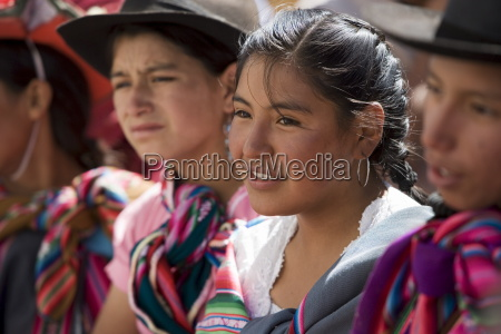 audience at carnival sucre bolivia south