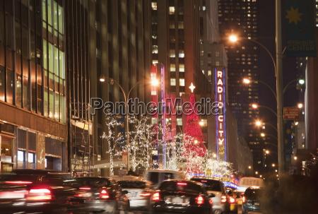 new york city bei nacht new