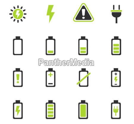 batterie icon set