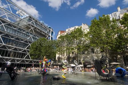 centre georges pompidou beaubourg paris france