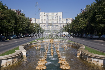 fountains in front of the palace