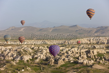 hot air balloon flight over the