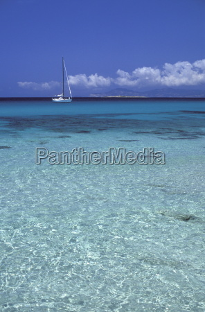 sea and sailing boat formentera balearic