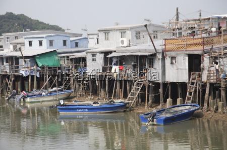 stilt houses tai o fishing village