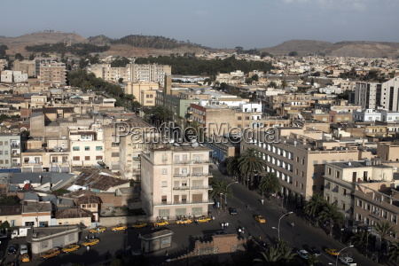 overlooking the capital city of asmara