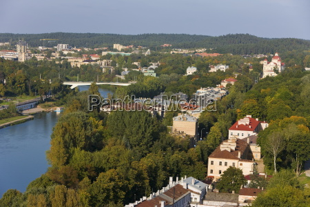 view over the old town vilnius