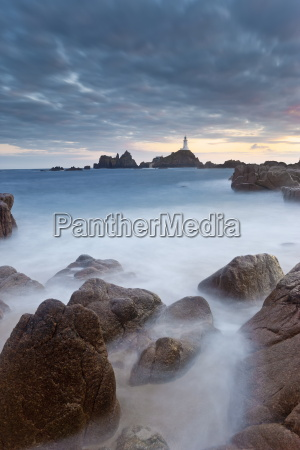 corbiere lighthouse jersey channel islands united