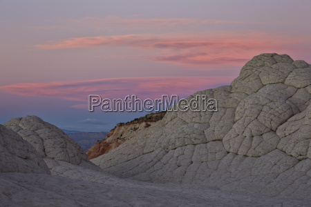 brain rock at sunset white pocket