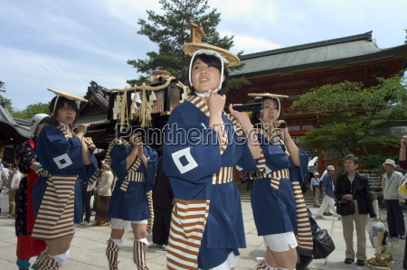 traditional dress and procession for tea