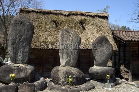 haus gebaeude fahrt reisen fernost stein