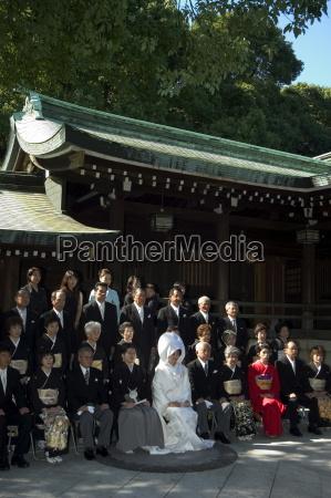 wedding ceremony meiji shrine harajuku tokyo