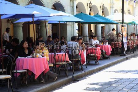outdoor cafes zocalo oaxaca city oaxaca