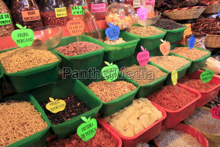 dried beans food market oaxaca city
