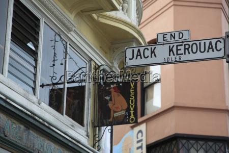 sign, for, jack, kerouac, alley, , vesuvio, - 20741355