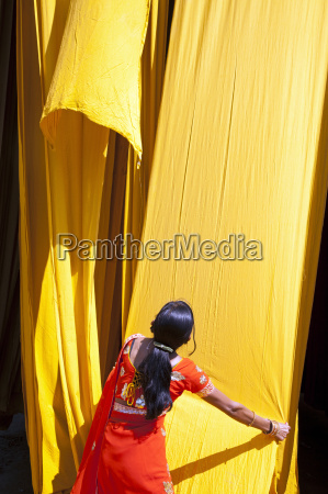 frau farbe asien indien outdoor freiluft