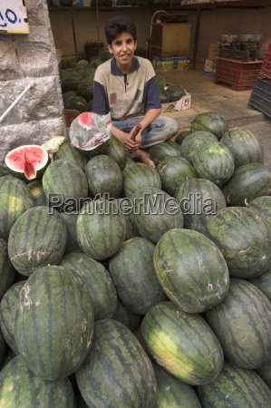 melons in the fruit and vegetable