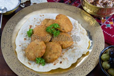 falafel eine frittierte kugeln oder patties