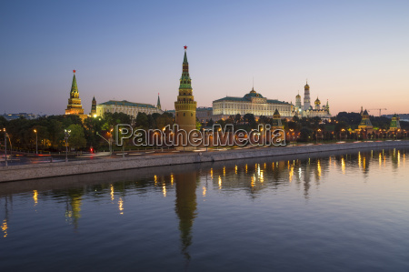 kremlin churches and towers from moscow