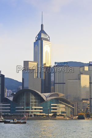 hong kong convention centre and skyline
