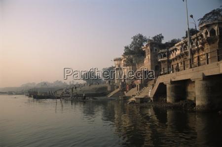 ghats along the river ganges ganga