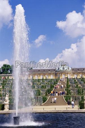 fountain schloss sanssouci sanssouci palace unesco