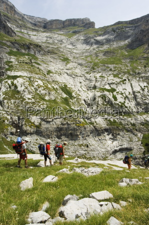 hiking trail and hikers in the