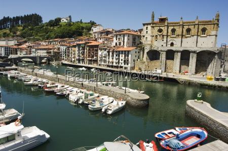 ondarroa harbour basque country euskadi spain